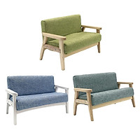 3 Pcs. 1/12 Dollhouse Bedroom Miniature Couch Chair Set, Gray / Blue