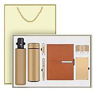 Bộ quà tặng văn phòng cao cấp : Sổ, ô, Bút, Sạc dự phòng, bút kí, Loa,USB