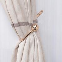 1 Pair Window Curtain Holdback Tieback with Decorative Ball Finial