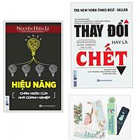 Combo Sách Kỹ Năng Sống - Thay Đổi Hay Là Chết + Hiệu Năng Châm Ngôn Của Nhà Doanh Nghiệp - (Tặng Kèm Bookmark Yêu Thương)