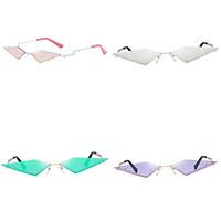 4 Pack Unisex Punk Slim Cat Eye Sunglasses Rimless Sun Glasses UV400 Eyewear