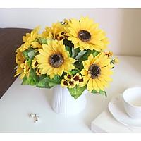 Hoa giả chùm hoa hướng dương vàng rực rỡ