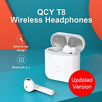 QCY T8 true wireless semi-in-ear bluetooth headset music master-slave switch mini comfortable ultra-small binaural in-ear detection long battery life sports running mobile phone universal