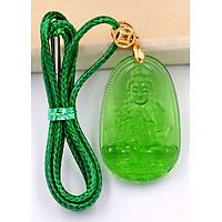 Vòng cổ Đại Nhật như lai pha lê xanh lá 3.6 cm DXFBXL5 - Phật hộ mệnh cho người tuổi Mùi, Thân