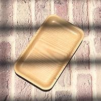 Khay chữ nhật gỗ tần bì tự nhiên