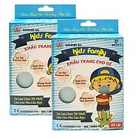 Combo 2 hộp khẩu trang cho bé kháng khuẩn, ngừa virus 4 lớp Khánh An (Cho bé Từ 2 đến 6 tuổi)
