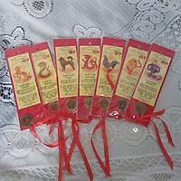 Thẻ đánh dấu sách nền đỏ  đồng tiền mai mắn (Bookmark) BM01-1