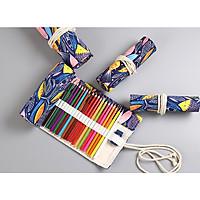 Túi đựng bút màu bằng vải dạng quấn 72 bút - Tặng 1 lọ tinh dầu oải hương 10ml