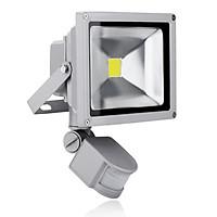 Đèn pha led cảm ứng chống trộm 10W (xám)