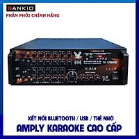 Âm ly Karaoke Bluetooth SANKIO 1200USB - Amply 8 sò lớn, nút nhôm sang trọng, quạt gió tản nhiệt - Hàng chính hãng