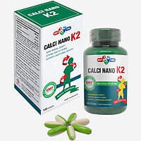Thực phẩm chức năng Calci Nano K2 Softgels - tăng chiều cao, bổ sung canxi và vitamin D hàng ngày