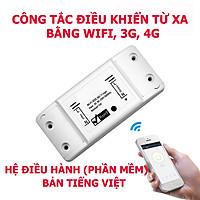 Công tắc wifi sử dụng phần mềm  Smart life điều khiển thiết bị điện từ xa qua điện thoại qua mạng internet wifi, 3g, 4g