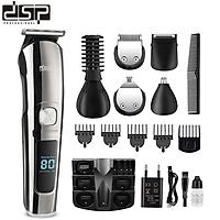 Tông đơ cắt tóc, cạo râu chuyên nghiệp 11 chức năng thương hiệu cao cấp DSP - HÀNG NHẬP KHẨU