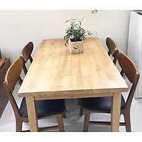 Bộ bàn ăn gỗ cao su 04 ghế