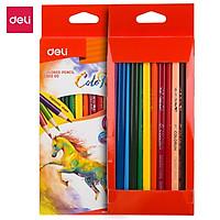 Bút chì màu (hộp giấy) Deli - 12 màu/18 màu/24 màu/36 màu - 1 hộp - EC00300/EC00310/EC00320/EC00330