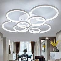 Đèn trần LED 8 cánh 3 chế độ ánh sáng có điều khiển từ xa tăng giảm GOLDSEEELAMP