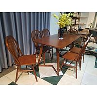 Bộ bàn ghế ăn 6 ghế (Nâu)