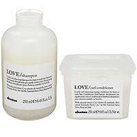 Bộ dầu gội xả Davines Love Curl dưỡng tóc uốn xoăn Ý 250ml
