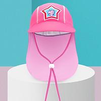 Mũ che gáy che nắng hồng sao cho bé từ 1-7 tuổi