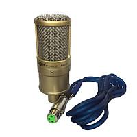 Micro Thu Âm AQTA AQ-220, Mic Thu Âm Karaoke Chuyên Nghiệp Mạ Nhôm Nguyên Chất,Độ Nhạy Cao, Tiếng Ồn Thấp Dành Cho Máy Tính, Điện Thoại, Sử Dụng Nguồn 5V-48V Kết Nối Các Loại Sound Card- 4386- Hàng Nhập Khẩu
