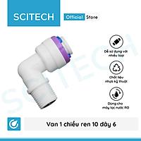 Van 1 chiều ren 10 ra dây 6 (Van 1 chiều co vỏ màng) dùng trong máy lọc nước - Hàng chính hãng
