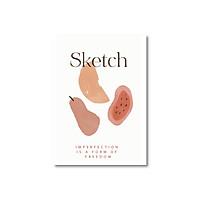 Sổ tay Sketchbook - Sổ vẽ - Ruột trơn (15x21cm) - Trắng