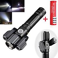 Đèn Pin LED Cầm Tay Siêu Sáng Mini Có Sạc USB Chống Nước - Hàng Chính Hãng Tặng Kèm 1 Pin Sạc 18650 4200mAh