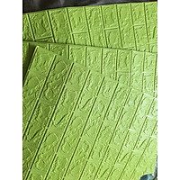 bộ 30 tấm xốp dán tường giả gạch dvyu11 mầu xanh cốm 11