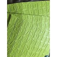 bộ 20 tấm xốp dán tường giả gạch lhv10 mầu xanh cốm 10