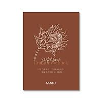 Sổ tay Sketchbook - Sổ vẽ - Ruột trơn (20x28cm) - Hoa nâu