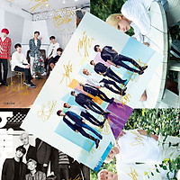 Poster ảnh treo tường 8 tấm có chữ ký nhóm nhạc BTS