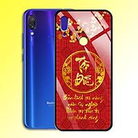 Ốp Lưng Mạ Màu Vàng Ánh Kim cho điện thoại Xiaomi Redmi Note 7 Pro - 0371 7979 TAIDUC01 - Chữ thư pháp Tài Đức - Hàng Chính Hãng