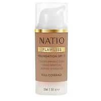 Natio Flawless Foundation SPF 15 Medium Tan Online Only