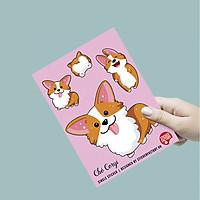 Chó Corgi - Single Sticker hình dán lẻ