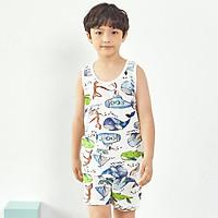 Bộ đồ ba lỗ mặc nhà cotton giấy cho bé trai U4010 - Unifriend Hàn Quốc, Cotton Organic