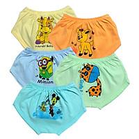 Combo 5 quần chip đùi cotton màu nhạt cho bé trai/bé gái SS-CĐMN