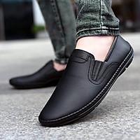 Giày lười nam chất liệu da bò mềm mại đế cao su khâu GCS094
