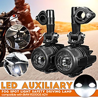 10-30V 40W Motorcycle LED Auxiliary Fog Spot Light Safety Driving Lamp Compatible with BMWs R1200GS ADV
