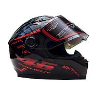 Mũ Bảo Hiểm Fullface AGU Tem 46 (Size L) - Đỏ