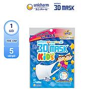 Khẩu Trang 3D Mask Gói 5 Cái Ngăn Khói Bụi Super Fit Size M/ 3D Mask KID/ Virus Block Size M