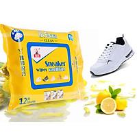 Gói 12 Miếng Khăn Lau Giày Sneaker-Giao Màu Ngẫu Nhiên