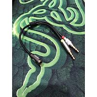 Dây chuyển từ lỗ 3.5ly ra 2 jack micro-tai nghe