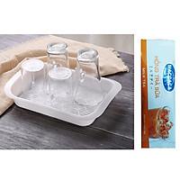 Khay Úp Ly Nhựa Siêu Bền Nhật Bản + Tặng Hồng Trà Sữa (Cafe) Maccaca 20g