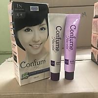 Nhuộm thảo dược phủ bạc thời trang  Welcos confume hair color 1N (Màu đen)    2 x 60g