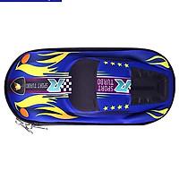 Hộp bút bóp viết hình ô tô siêu đáng yêu cho bé trai đựng đồ dùng học tập màu xanh màu đỏ E86