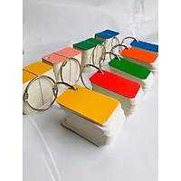 10 bộ FLASHCARD  trắng 4X7CM (Bộ thẻ ghi nhớ Flashcard TRẮNG 1000 thẻ 4X7CM) học từ vựng Anh Nhật Hàn Trung bo góc kèm khoen + BÌA CỨNG