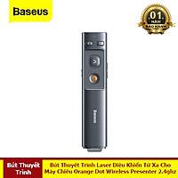 Bút Thuyết Trình Laser Điều Khiển Từ Xa Cho Máy Chiếu Baseus Orange Dot Wireless Presenter 2.4ghz Với USB Bluetooth - Hàng Chính Hãng Baseus