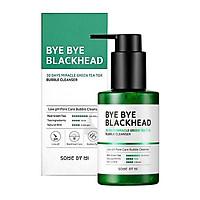 Sữa Rửa Mặt Sủi Bọt Loại Bỏ Mụn Đầu Đen Some By Mi Bye Bye Blackhead 30 Days Miracle Green Tea Tox Bubble Cleanser 120g