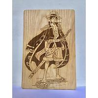Tranh gỗ One Pice – Monkey D. Luffy