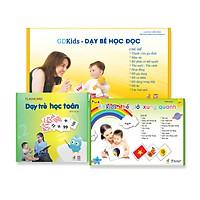 Combo Thẻ Học Thông Minh Glenn Doman (Bộ học toán 59 Thẻ + Bộ TGXQ 300 thẻ + Bộ đọc 100 thẻ) Flashcards chuẩn